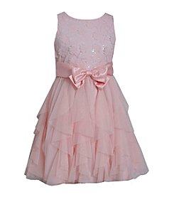 Bonnie Jean® Girls' 7-16 Sleeveless Mesh Ruffle Dress
