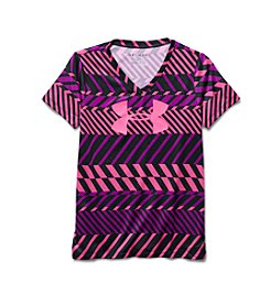 Under Armour® Girls' 7-16 Short Sleeve UA Tech™ V-Neck Tee