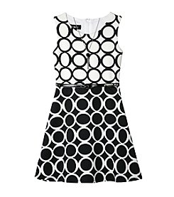 A. Byer Girls' 7-16 Sleeveless Circle Print Dress