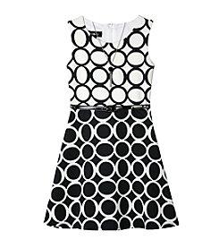 A. Byer Girls' 7-16 Sleeveless Circle Print Dress