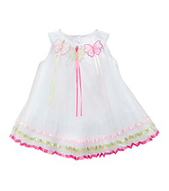 Rare Editions® Girls' 2T-6X Lace Butterfly Ribbon Dress