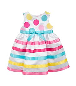 Rare Editions® Girls' 2T-6X Dots And Stripes Dress