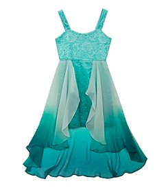 Tween Diva by Rare Editions Girls' 7-16 Ombre Glitter Lace Dress