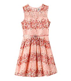 Beautees Girls' 7-16 Floral Lace Dress