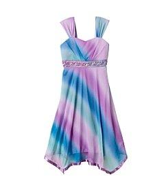 Speechless® Girls' 7-16 Dip-Dye Sharkbite Hem Dress