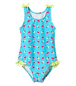 Mambo® Girls' 2T-6X 1-Piece Flamingo Swimsuit