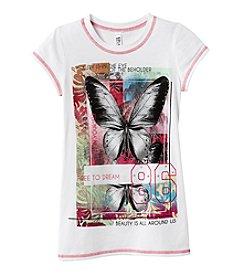 Beautees Girls' 7-16 Short Sleeve Butterfly Tee