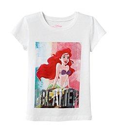 Disney® Girls' 7-16 Short Sleeve Little Mermaid Tee