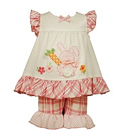 Bonnie Jean® Baby Girls' Bunny Applique Tunic And Pants Set
