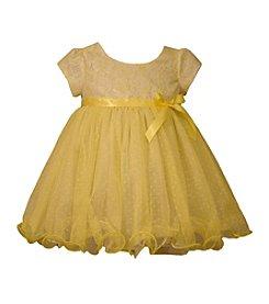 Bonnie Jean® Baby Girls' Two Tone Lace Bodice Dress