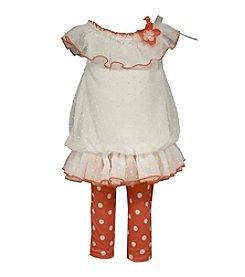 Bonnie Jean® Baby Girls' Tunic And Polka Dot Printed Leggings Set