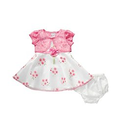 Sweet Heart Rose® Baby Girls' Lace Cardigan And Floral Dress