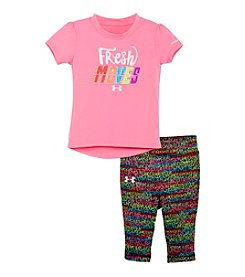 Under Armour® Baby Girls' Fresh Moves Tee And Printed Leggings Set