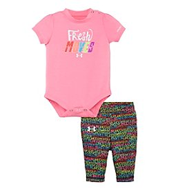 Under Armour® Baby Girls' Fresh Moves Bodysuit And Printed Leggings Set