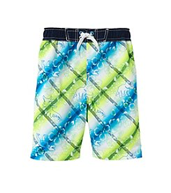 Mambo® Boys' 2T-7 Tropical Dino Printed Swim Trunks