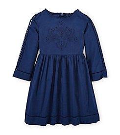 Ralph Lauren Childrenswear Girls' 7-16 Eyelet Dress