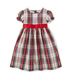 Chaps® Girls' 2T-6X Printed Plaid Dress