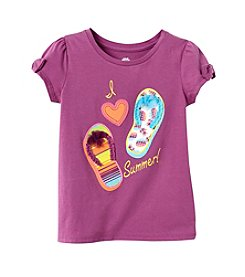 mix&MATCH Girls' 2T-6X Short Bow Sleeve Flip-Flop Tee