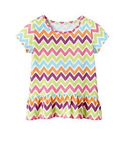 Mix & Match Girls' 4-6X Short Sleeve Chevron Print Tee