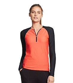 Lauren Active® Honeycomb Half-Zip Top