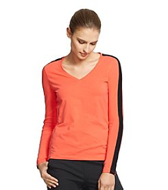 Lauren Active® Color-Blocked Long-Sleeve Tee