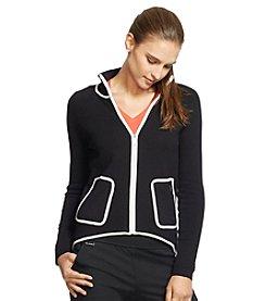 Lauren Active® Color-Blocked Cotton Sweater