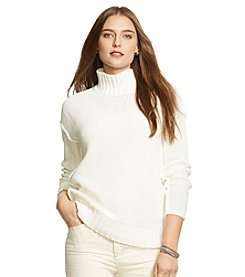 Lauren Jeans Co.® Cotton-Linen Mock Neck Sweater