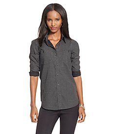 Lauren Jeans Co.® Polka-Dot Cotton Poplin Shirt