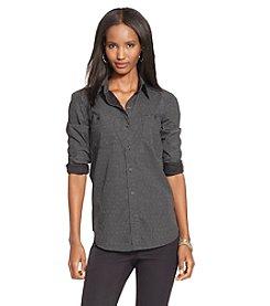 Lauren Jeans Co.® Polka-Dot Cotton Poplin Shirt