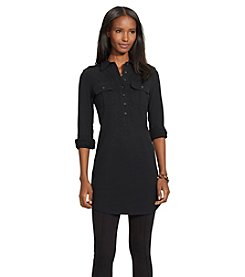 Lauren Jeans Co.® Jersey Long-Sleeve Shirt Dress