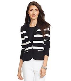 Lauren Ralph Lauren® Striped Cotton Sweater Blazer