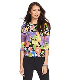 Lauren Ralph Lauren® Floral-Print Cotton Sweater
