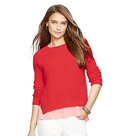 Lauren Ralph Lauren® Layered Cotton Sweater