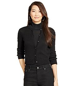 Lauren Ralph Lauren® Cropped Cotton Cardigan