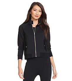 Lauren Ralph Lauren® Pique Full-Zip Bomber Jacket