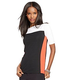 Lauren Ralph Lauren® Color-Blocked Cotton Tee