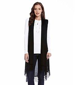 Karen Kane® Fringe Sweater Vest