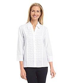 Alfred Dunner® Sausalito Pintucked Shirt
