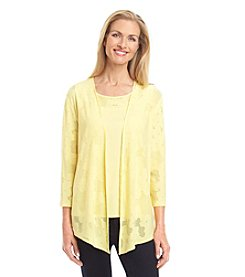 Alfred Dunner® Sausalito Textured Layered Look Knit Top