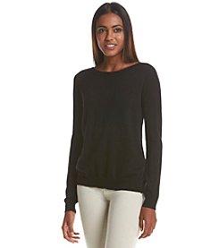 Ivanka Trump® Woven Underlay Sweater