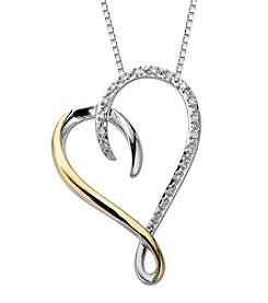 Sterling Silver and 14k Yellow Gold Heart Pendant