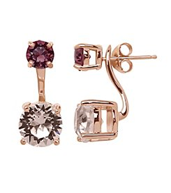 Impressions® Earrings in Sterling Silver with Shades of Rose Swarovski® Crystal