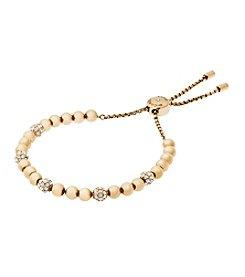 Michael Kors® Goldtone Clear Slider Bracelet