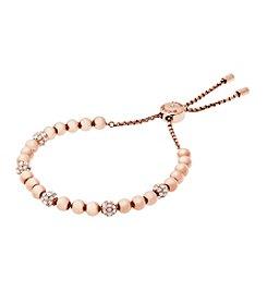 Michael Kors® Rose Goldtone Clear Slider Bracelet