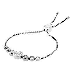 Michael Kors Silvertone Clear Slider Bracelet