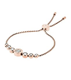 Michael Kors Rose Goldtone Clear Slider Bracelet