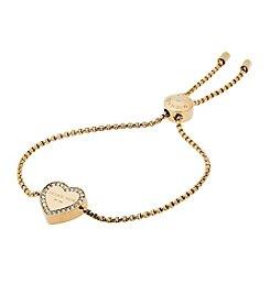 Michael Kors Goldtone Clear Slider Bracelet