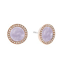 Michael Kors Rose Goldtone Lavender Acetate Earrings