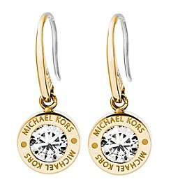 Michael Kors Goldtone Clear Earrings