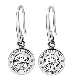 Michael Kors Silvertone Clear Earrings